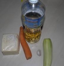 кабачок, чеснок, ростительное масло, сыр, морковь