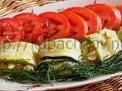 Кабачки с плавленным сыром