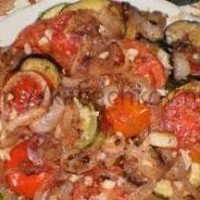 Овощной торт из кабачков